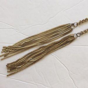 Banana Republic gold tassel chain belt
